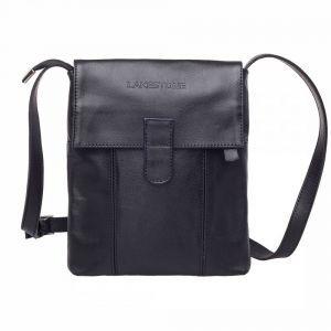 602c5ecc Молодежная сумка через плечо Lakestone Monkton Black мужская кожаная черная  ...