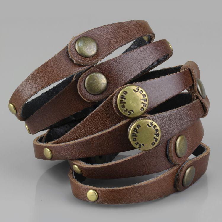 женские кожаные браслеты фото