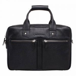5a41f80ea7ac Деловая сумка из черной кожи Lakestone Kelston Black в классическом мужском  стиле ...