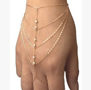Браслет с кольцом на цепочке в интернет магазине