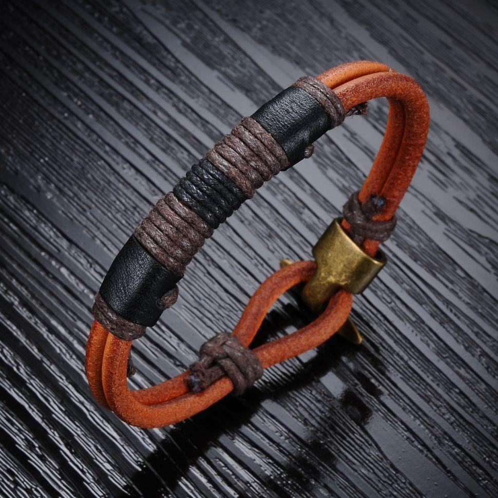 Мужские плетеные браслеты
